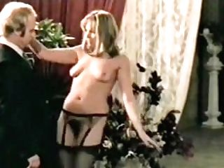 Naked Lady In Black Stockings Tempts Suited Older Man