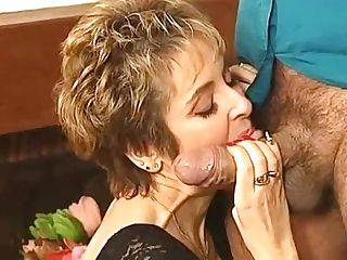 Horny Satyr Roberto Wiggles His Trickling Dick Close To Mummy's Face